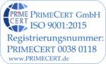 Zertifizierung Din ISO 9001:2015 Primecert