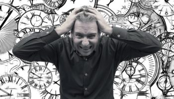 Stress Baiting Person Man Clock Businessman Dates